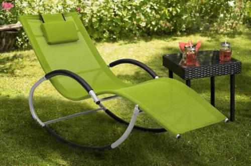 Relaxační houpací lehátko na zahradu