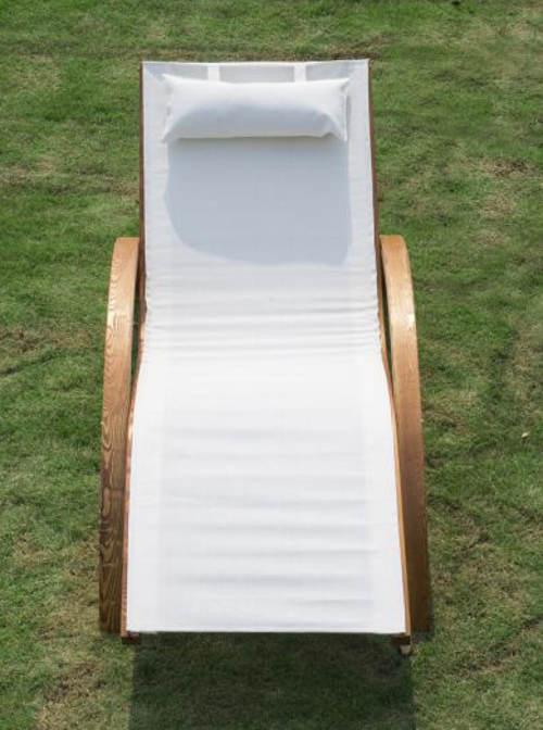 Venkovní relaxační lehátko s polštářkem