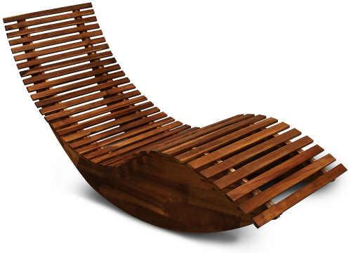 Moderní houpací dřevěné lehátko