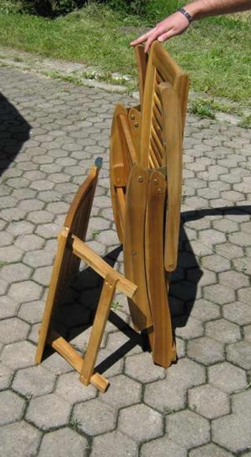 Skládací zahradní lehátko z masivního dřeva