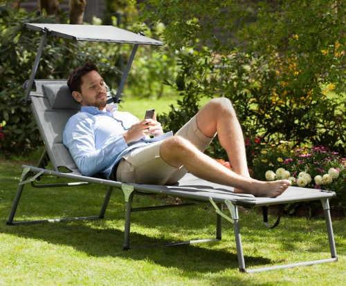Zahradní lehátko s pohodlným polstrováním