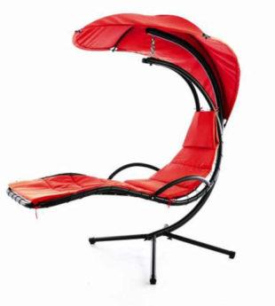 Červené luxusní závěsné lehátko EDEN