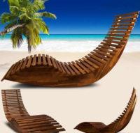 Dřevěné lehátko-houpačka Dekorhome