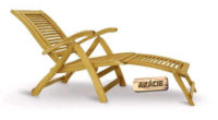 Luxusní polohovatelné dřevěné lehátko King