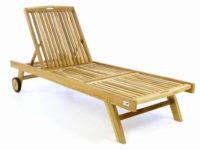 Dřevěné zahradní lehátko s kolečkama výprodej