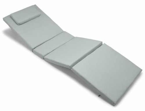 Pohodlná podložka na zahradní lehátko včetně polštářku