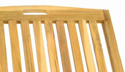 Polohovatelné zahradní lehátko z teakového dřeva