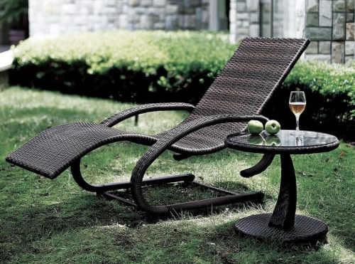 Relaxační zahradní nábytek z umělého ratanu