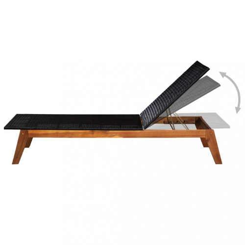 Moderní lehátko z kvalitního materiálu dřevo a ratan