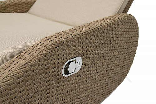 Praktické kvalitní lehátko se stolečkem