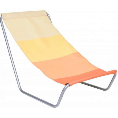 Oranžové plážové lehátko skládací