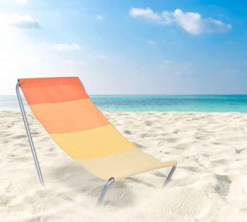 praktické plážové lehátko skladovací v podobě tašky